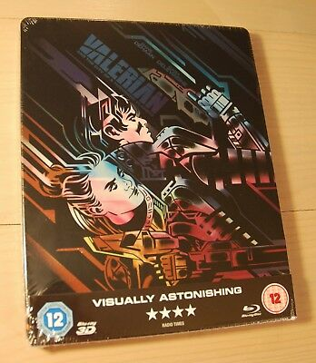 Valerian & The City Of A Thousand Planets 2D/3D Blu Ray UK Steelbook NEW SEALED