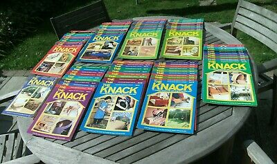 VINTAGE 1980s DIY THE KNACK MAGAZINES ALMOST COMPLETE SET 81 ISSUES GOOD COND