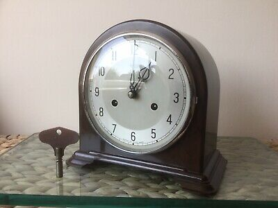 Smiths Enfield Bakelite Striking Clock, Re-bushed, Full Service, Original Key