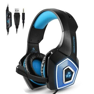 Hunterspider V1 Mic Stereo Bass Surround Gaming Headset for PC Sony PS4 Xbox One