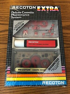 Vintage Recoton Extra Deluxe Cassette Maintenance System New  Demagnetizer