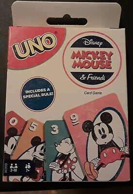 2018 Disney Mickey Mouse & Friends UNO Card Game with Special Rule