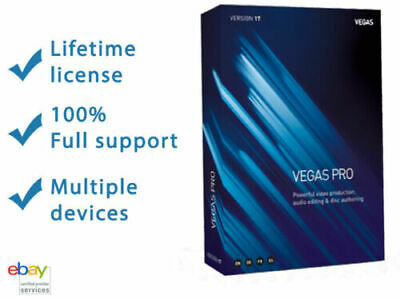 Vegas Pro 17. Latest Version 2019 x64 bit. activated. Fast delivery