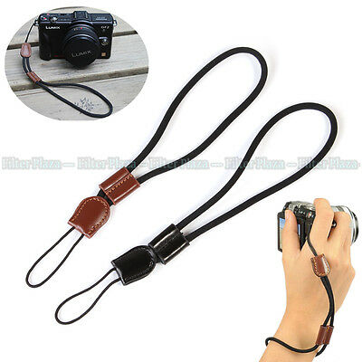 Camera Leather Wrist Hand Strap for Canon Nikon Olympus Sony Fuji Digital/SLR DC