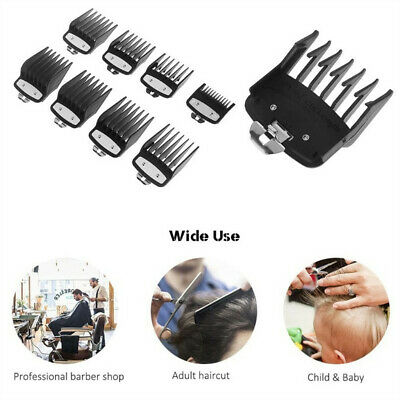 For Wahl Premium Clipper Guard Set Attachment Combs Metal Magnetic 8 Piece