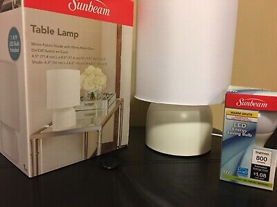 LOT OF 6 SUNBEAM RUBBERMAID DIMMABLE LED DESK LAMP TOUCH OFFICE LIGHTS LAMPS NEW