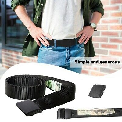 Security Travel Secret Pocket Hidden Waist Money Belt with Quick Release Buckle