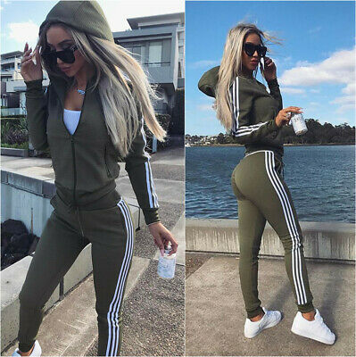 Womens 2PC Tracksuits Set Loungewear Hooded Tops Suit Pant Hoodie Plus Size 6-20