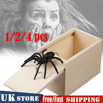 Funny Scare Box Spider Mouse Hidden in Case Prank-Wooden Joke Trick Play Toy HOT