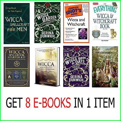 8 [E-b000k] Of Wicca Witchcraft , Spellbook , Garden ,of Days , Christian ...