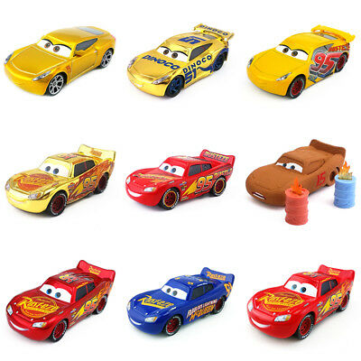 Disney Pixar Cars 3 Lightning McQueen Dinoco Cruz Ramirez Metal Toy Car kid Gift