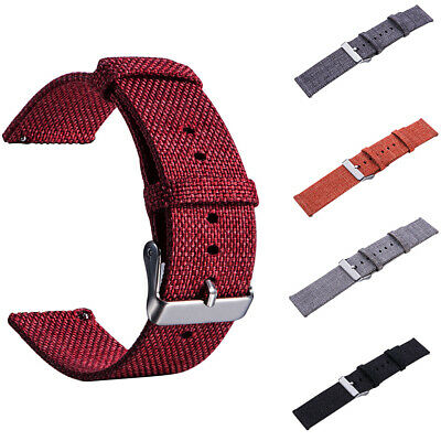 22mm Nylon Canvas Adjustable Wrist Strap Universal Pin Buckle Unisex Watch Strap