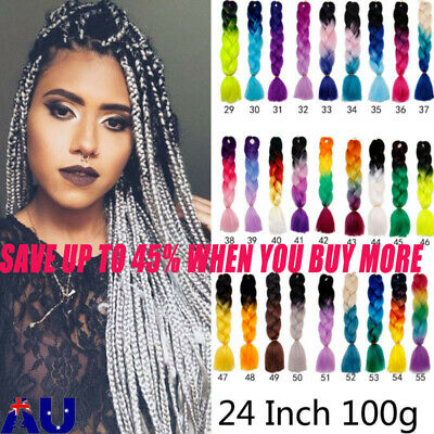 Colored Crochet Hair Extensions Hair Synthetic Braids Jumbo Braiding Hot Sale