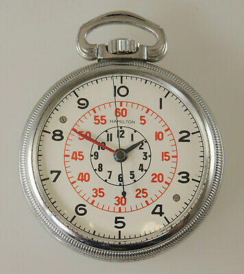 Rare Hamilton HS3 Military Pocket Watch with a DECIMAL DIAL. Circa 1940