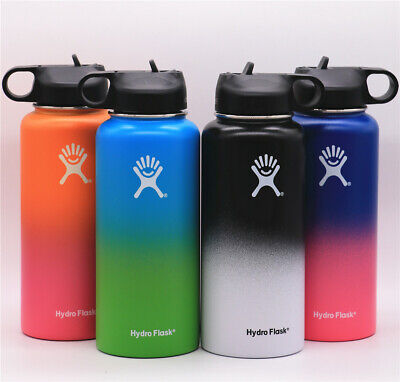 Hydro Flask Wide Mouth Stainless Steel Bottle With Straw Lid 32 oz