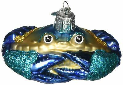 Blue Crab Old World Christmas Glass Ornament FREE BOX 12184 Mouth Blown New