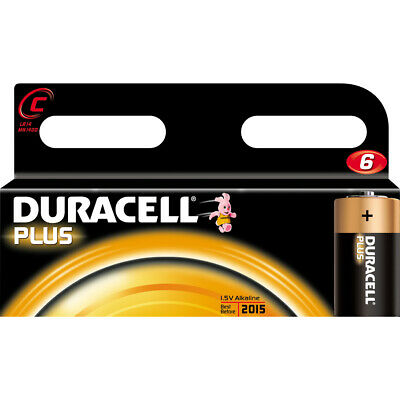 Duracell PLUS C Cell (LR14 / MN1400) Alkaline Batteries - Pack of 4