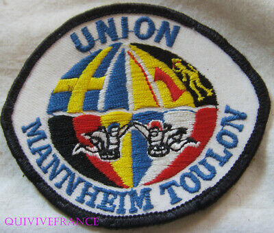 In13873 - Insigne Tissu Patch Club Parachutiste Union Toulon Mannheim