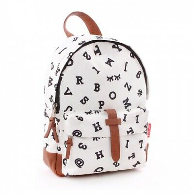 Womens Girls Fashion Black & White Faux Leather Backpack New 2019 XMAS GIFT