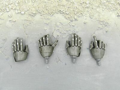 1//6 scale toy GHOSTBUSTERS Black Gloved Hands w//Wrist Pins