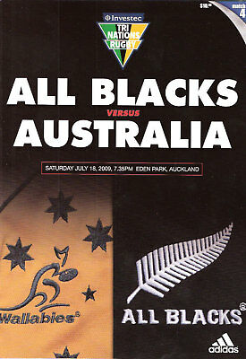 NEW ZEALAND v AUSTRALIA 2009 - 18th July RUGBY PROG