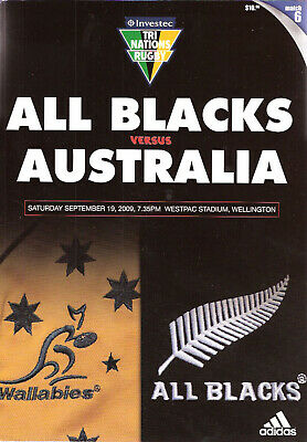 NEW ZEALAND v AUSTRALIA 2009 19th September RUGBY PROG