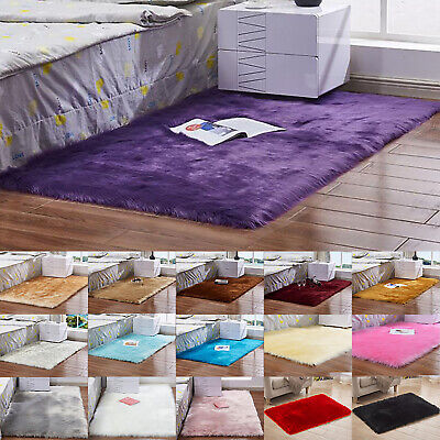 Large Shaggy Area Thick Pile Rug Carpet Living Room Soft Floor Mat Home Bedroom