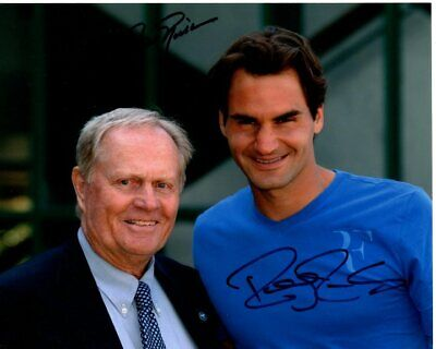 JACK NICKLAUS & ROGER FEDERER signed autographed photo
