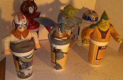 STAR WARS 6 KFC Pizza Hut Taco Bell Pepsi Commemorative Cups & Figures LOT 1990s