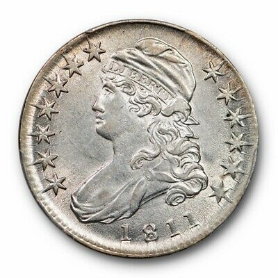 1811 50C Small 8 Capped Bust Half Dollar PCGS AU 58 Lustrous Beauty