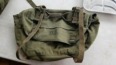 Post-WWII US Army OD Green M1945 Upper Combat Field Pack Dated 1951 Rubber liner