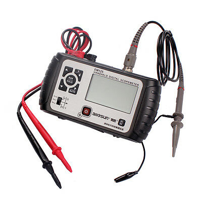 EM125 2 IN 1 Handheld Digital Scopemeter Mini Oscilloscope 25Mhz Multimeter