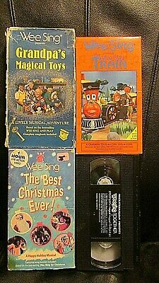 Wee Sing The Best Christmas Ever Vhs.Wee Sing Lot Of 4 Vhs Tapes Train Grandpa S Best Christmas Ever Together