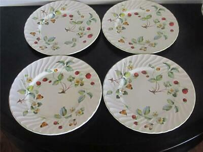 4 Vintage James Kent Old Foley Strawberry Salad  Plates with Butterflies