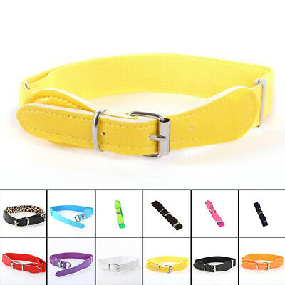 Unisex Kids Boy Girl Adjustable Belt PU Leather Elastic Waistband Waist Belt