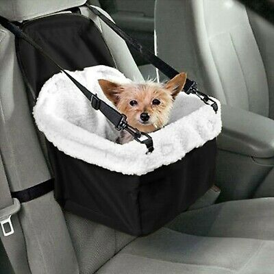 Car Pet Booster Seat Dog Safety Travel Seat Basket Soft Faux Sheepskin Lining