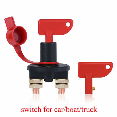 Truck Boat Car Battery Disconnect Switch Power Isolator Cut Off Kill Switch + 2