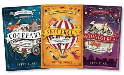 Cogheart Adventure 3 Books Collection Peter Bunzl, Moonlocket, Skycircus, Coghe