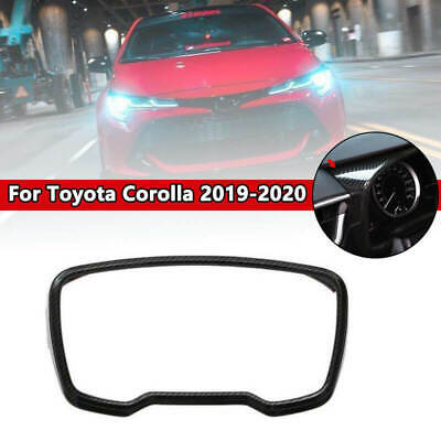 Carbon Fiber Style Dashboard Panel Frame Cover Trim For Toyota Corolla 2019 2020