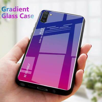 For Samsung Galaxy Note 10 Note10 Plus Luxury Glass Slim Case Hybrid Back Cover