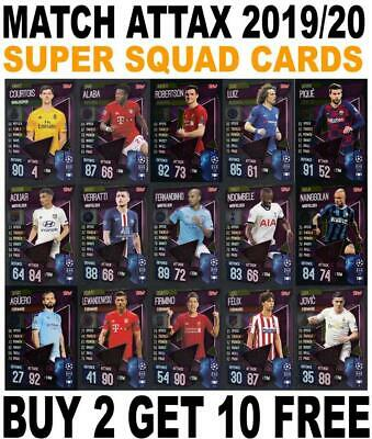Match Attax 2019/20 19/20 Champions League Super Squad Cards / Tactic Cards