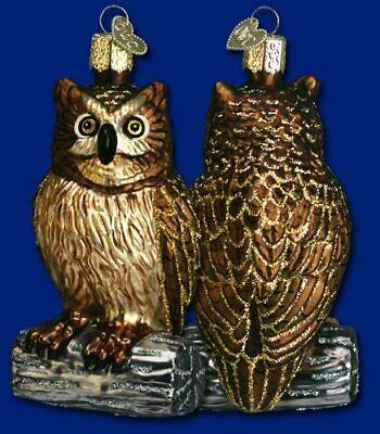 Old World Christmas HALLOWEEN WISE OWL Handblown Handpainted Glass Ornament