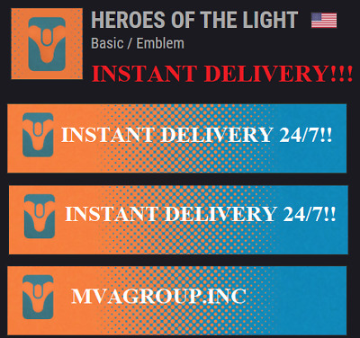 Destiny 2 Heroes of the Light Emblem PS4/Xbox One/PC - Instant Delivery!