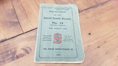 Singer Sewing Machine instructions - No 15