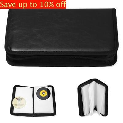 80 CD/DVD Carry Case Disc Storage Holder VCD Case Sleeve Wallet Ideal for Car