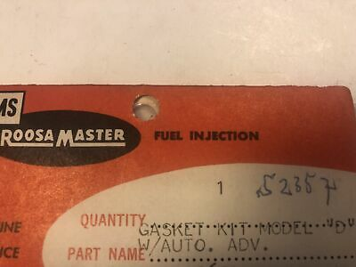 "Roosa Master S2357 Gasket Kit "" D "" Pump With Auto Advance"