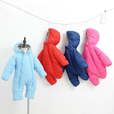 Boy Girl Baby Winter Coat Jacket Kid Zip Thick Snowsuit Hoodie Romper Jumpsuit K