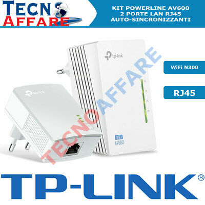 Starter Kit Powerline AV600 Wireless N 300Mbps con 2 porte Lan TL-WPA4220KIT