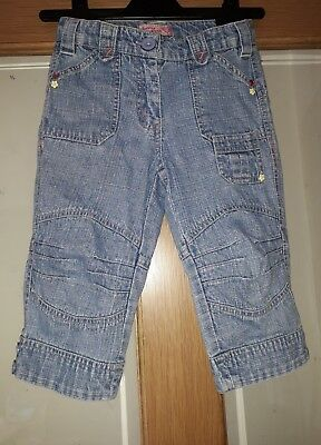 Girls Cropped Jeans By Sugar Pink Age 5-6 Years