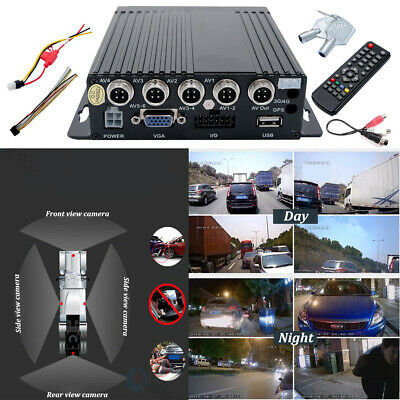 4 Channel DVR Mobile Digital Video Recorder For In Car CCTV Security Systems 720